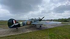Stíhací letoun Hawker Hurricane.