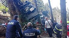 Nehoda lanovky v italském letovisku Stresa u jezera Lago Maggiore.