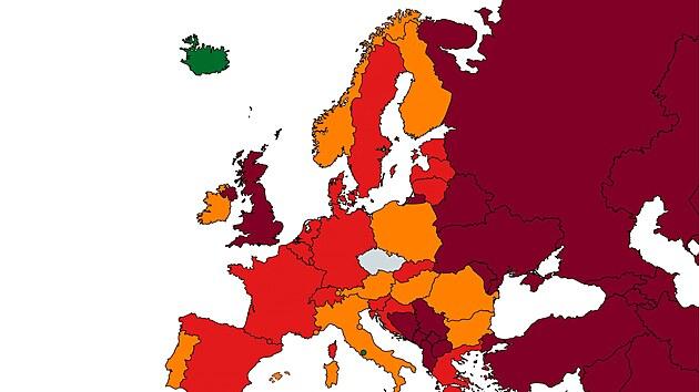 Aktuální stav (před pondělím 7. června) cestovatelské mapy, tedy ukazatele...