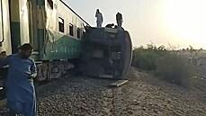 Tragédie na železnici v Pákistánu.