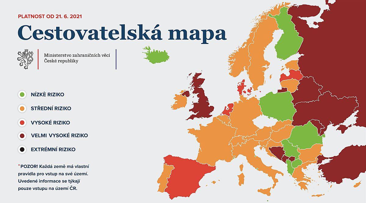 Současné podmínky cestovaní stanovené ZV ČR.