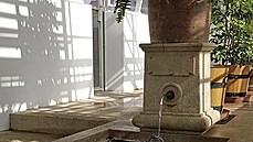 Rekonstruovaná kašnička ve fürstenberském skleníku