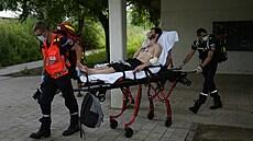 Belgickı migrant při hospitalizaci kvůli hladovce.
