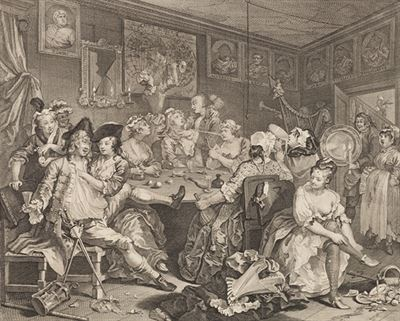 William Hogarth - Vzestup zpustlika III