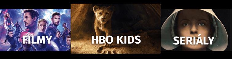 Filmy, HBO kids, seriály