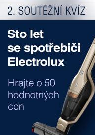 Sto let se spotřebiči Electrolux - ceny ve 2. soutěžním kvízu