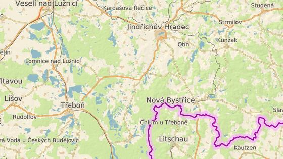 Obludiště se nachází poblíž Jindřichova Hradce.