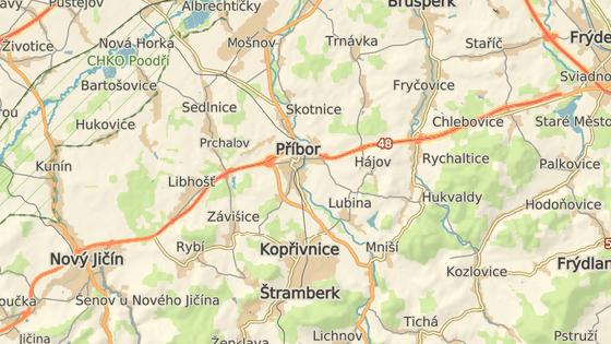 Nehoda se stala na D48 u Příbora.