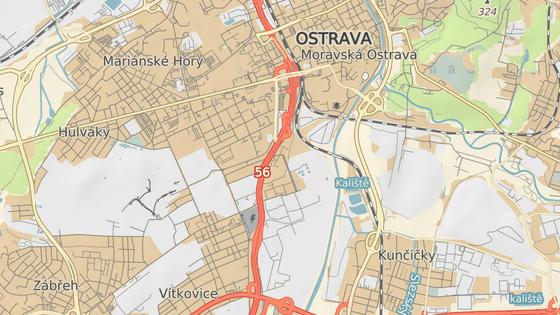 Důl Hlubina stojí na pomezí Moravské Ostravy a Vítkovic.