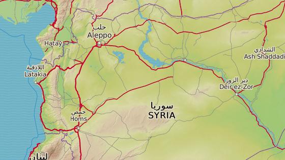 Červená značka ukazuje na provincii Idlíb, kterou stále dobývají syrské vládní síly.