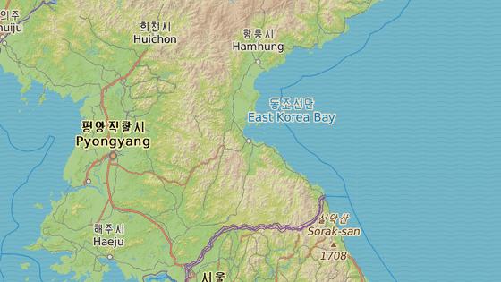 Wonsan se nachází na východním pobřeží KLDR