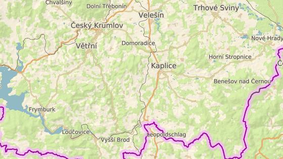 Nažidla na Českokrumlovsku