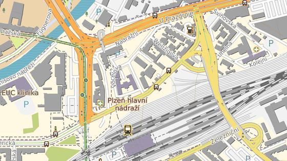 Cyklista narazil do závory u nového autobusového nádraží v Šumavské ulici v Plzni.