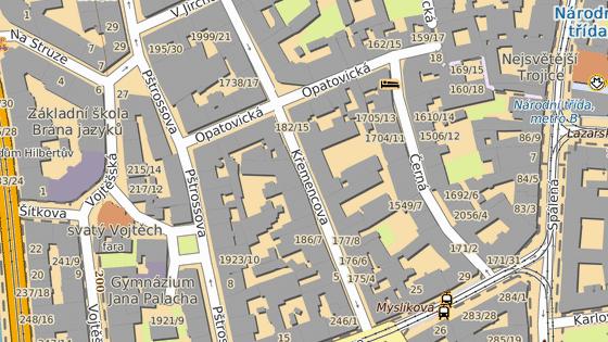 Ulice, ve které bylo auto majiteli odcizeno