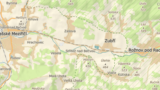 Úprav se má dočkat křižovatka u Stříteže nad Bečvou na hlavním tahu mezi Valašským Meziříčím a Rožnovem pod Radhoštěm.