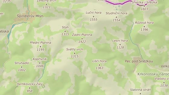 Klínové boudy jsou mezi Stohem a Liščím hřebenem v Krkonoších.