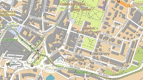 Areál tiskáren leží v samém centru města.