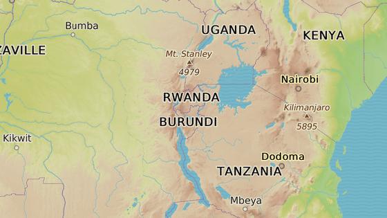 Národní park Akagera ve Rwandě