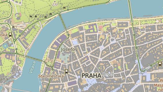 Ulice Dušní se nachází v centru Prahy.