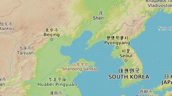 Tan-tung leží přímo u hranic Číny a Severní Koreje.