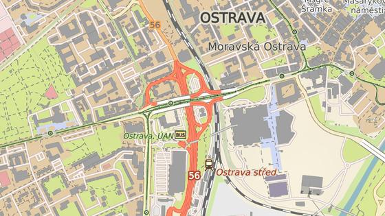 Frýdlantské mosty v centru Ostravy vedou nad velmi frekventovanou Místeckou ulicí.
