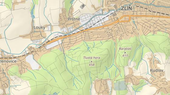 Městské družstevní byty mají vzniknout v ulici Na Slanici na Podhoří (modrá značka) a U Majáku (červená).
