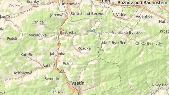 Nehoda se stala ve vsetínské části Horní Jasenka.