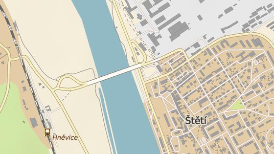 Most přes Labe ve Štětí