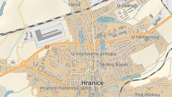 Nejrizikovějším místem silnic je podle Allianz automapy úsek Olomoucké ulice v Hranicích.
