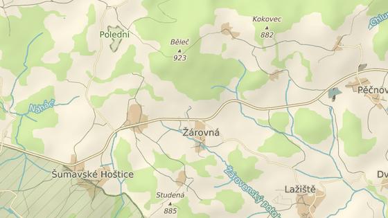 Kolize se stala u Žárovné na Prachaticku.
