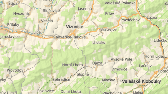 Nehoda se stala mezi obcemi Horní Lhota a Zádvěřice-Raková.