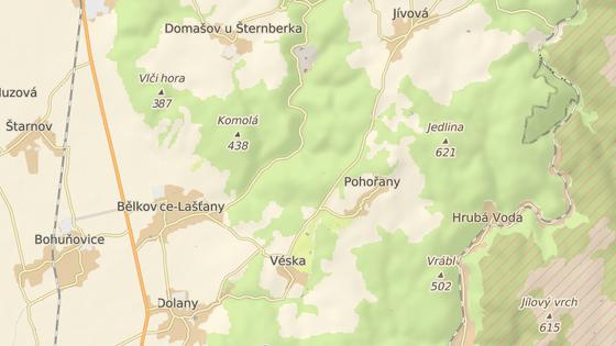 Tragická nehoda se stala v zatáčce kousek od Vésky na Olomoucku.