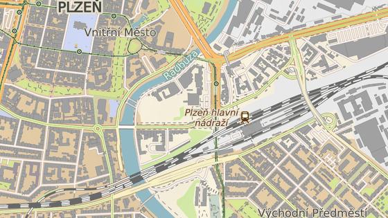 V Plzni se pro auta uzavře Goethova ulice (modrý bod) a Šumavská ulice (červený bod).