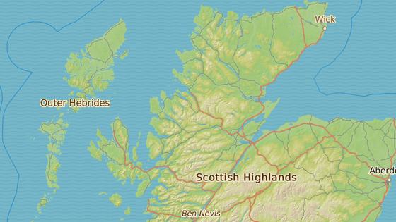 Isle of Skye je největším ostrovem souostroví Hebridy východně od Skotska