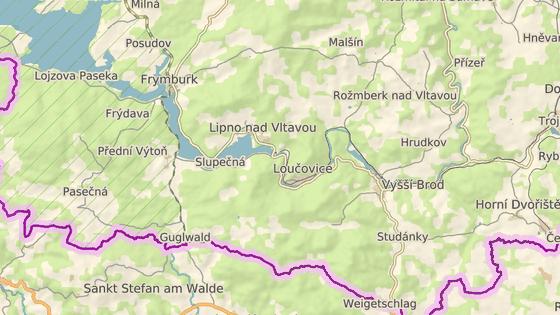 Nehoda se stala poblíž přechodu Gugwald/Přední Výtoň