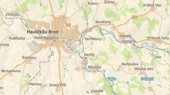 Ropná jáma se nachází hned u silnice z Brodu do místní části Termesivy.