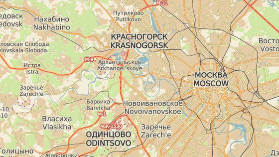 Letoun dopadl dva kilometry od vsi Stěpanovskoje (červená značka)
