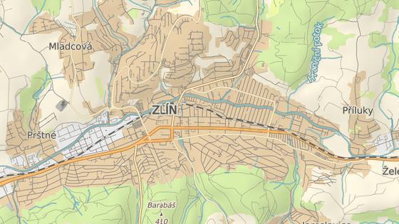 Baťova nemocnice sídlí na okraji Zlína.