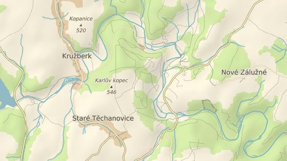 Někdejší lázeňský komplex stojí u řeky Moravice nedaleko Vítkova a patří pod obec Staré Těchanovice.