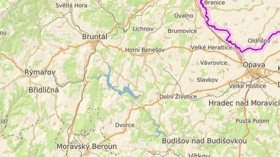 Přehrada Slezská Harta leží jihovýchodně od Bruntálu a má především vodárenský účel. Turistika se však i tam rozvíjí.