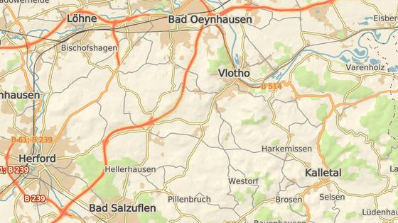 Město Vlotho ve spolkové zemi Severní Porýní-Vestfálsko.
