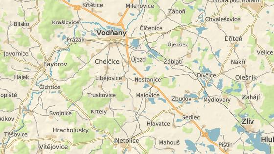 Nehoda se stala na hlavním tahu z Českých Budějovic na Písek.
