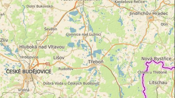 Nehoda se stala východně od Třeboně.