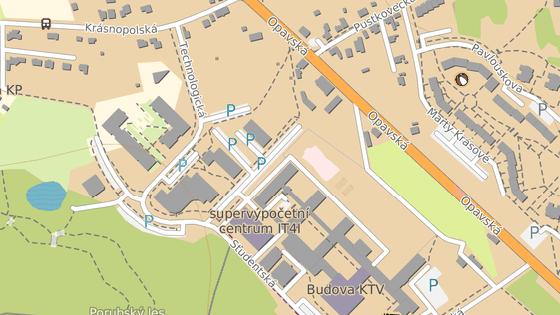 Objekty  Piano (červená značka) a Tandem (modrá značka) v areálu Moravskoslezského inovačního centra na okraji Ostravy nejsou v dobrém technickém stavu a čeká je rekonstrukce.