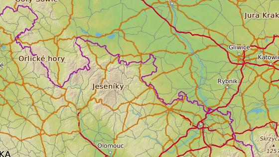 Údajné holoseče jsou ve východní části Jeseníků.