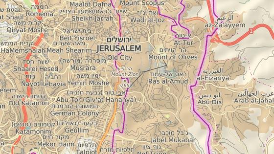 Budoucí hlavní město Palestiny? Abu Dis leží hned za hranicemi Jeruzaléma.