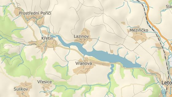 Kolize se stala u přehrady Křetínka na Blanensku.