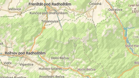 Policie uzavřela pro auta příjezdovou cestu do obce Pustevny