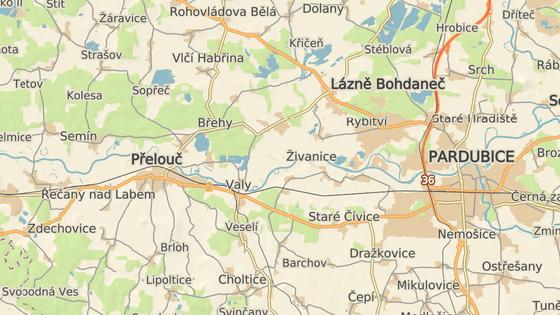 Neštěstí se stalo na koridoru mezi Pardubicemi a Přeloučí
