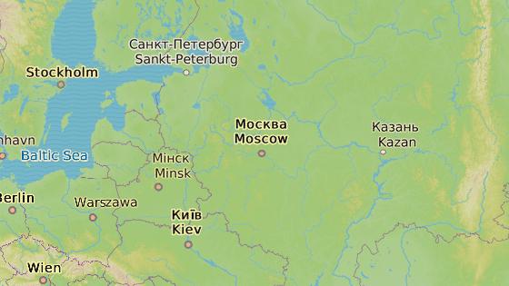 Město Perm leží asi 1 100 kilometrů od Moskvy.